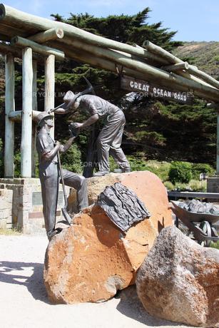 グレートオーシャンロード ゲートと記念碑の写真素材 [FYI00222764]
