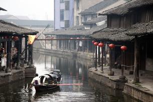 中国・安昌古鎮の写真素材 [FYI00222790]