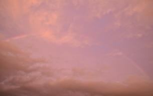 夕焼けの虹の写真素材 [FYI00223019]