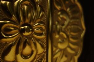 寺院の扉の金具の写真素材 [FYI00223595]