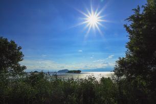 真夏の琵琶湖の素材 [FYI00224186]