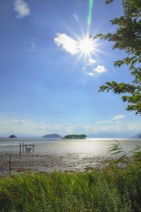 真夏の琵琶湖の素材 [FYI00224221]