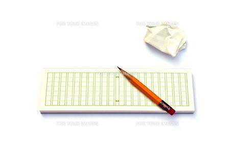 メモ帳と鉛筆の写真素材 [FYI00224341]