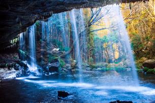 熊本県阿蘇郡小国町の鍋ヶ滝の写真素材 [FYI00224349]