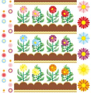 咲く花萎れる花イラストカットデザインイメージの写真素材 [FYI00224517]