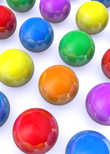 カラフルな球体の写真素材 [FYI00225418]