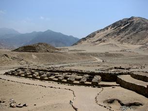 カラル遺跡(ペルー)の風景の写真素材 [FYI00225515]