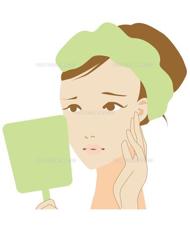 肌に悩む女性の写真素材 [FYI00225521]