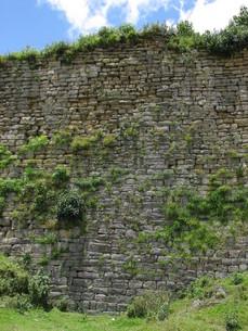 クエラップ遺跡(ペルー)の外壁の写真素材 [FYI00225528]