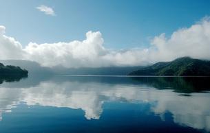 135. 早朝の湖畔の写真素材 [FYI00225846]