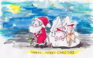 クリスマスねこの写真素材 [FYI00226045]