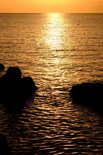 葉山の海夕暮れの素材 [FYI00226285]