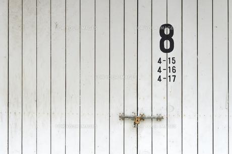 倉庫の扉の写真素材 [FYI00226586]