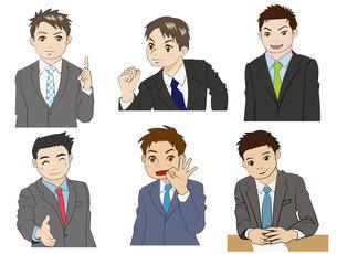 スーツの男性六人の写真素材 [FYI00226612]