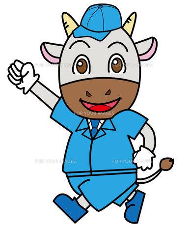 牛の作業員の写真素材 [FYI00226633]