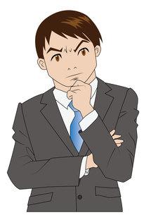 悩むビジネスマンの写真素材 [FYI00226656]