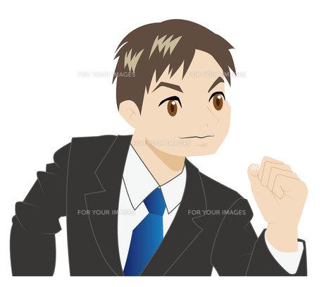 ガッツポーズの若いビジネスマンの写真素材 [FYI00226681]