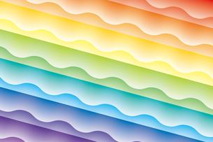 虹色の壁紙(虹色の背景)の写真素材 [FYI00226802]