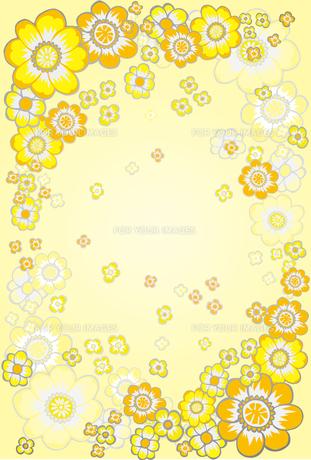 黄色い花の図案の素材 [FYI00227127]