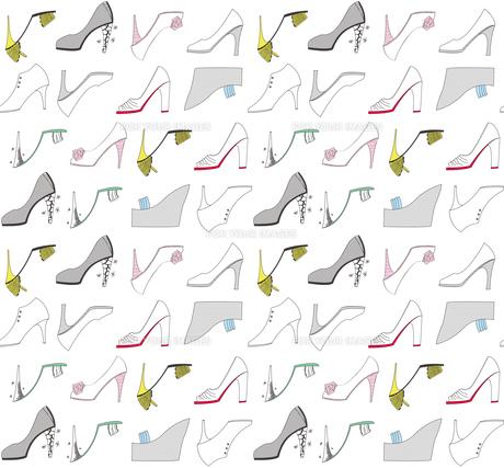 カラフルな靴のパターンの素材 [FYI00227129]