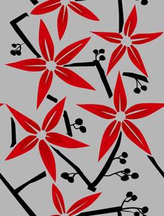 赤い花のパターンの素材 [FYI00227133]