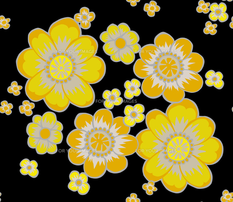 和柄、八花形黄色の素材 [FYI00227134]
