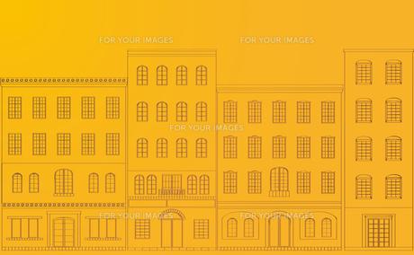 町並みの背景、黄色の素材 [FYI00227147]
