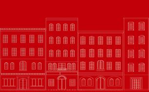 町並みの背景、赤の素材 [FYI00227156]