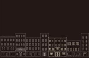 町並みの背景、黒の素材 [FYI00227158]