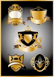 金の紋章セットの素材 [FYI00227167]