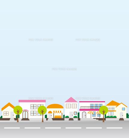 町並みのイラストの素材 [FYI00227173]