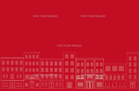 町並みの背景 赤の写真素材 [FYI00227174]