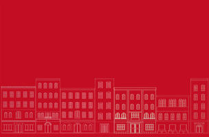 町並みの背景 赤の素材 [FYI00227174]