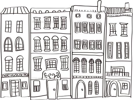 街並のイラストの素材 [FYI00227197]