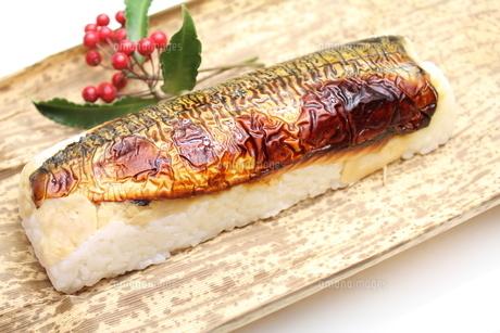 焼き鯖寿司の写真素材 [FYI00227269]