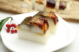 焼き鯖寿司の写真素材 [FYI00227271]