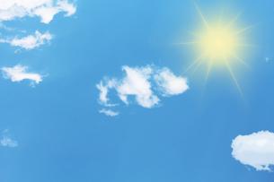 青空と太陽の写真素材 [FYI00227434]