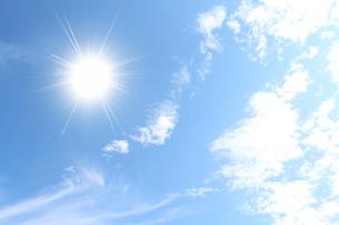 空と太陽の写真素材 [FYI00227770]