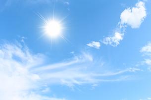 空と太陽の写真素材 [FYI00227782]
