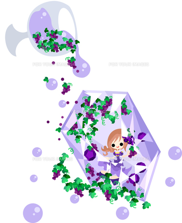 紫の宝石の妖精の素材 [FYI00227881]