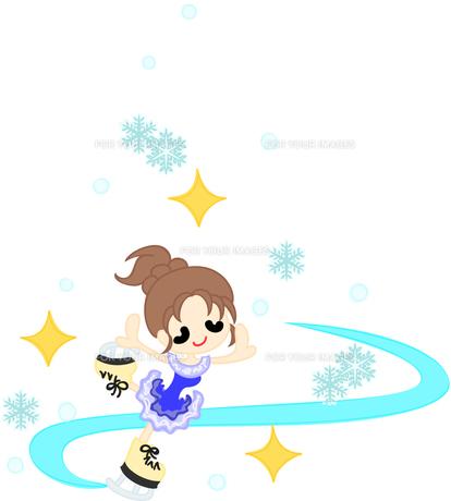 優雅に舞うフィギュアスケート選手の写真素材 [FYI00228064]