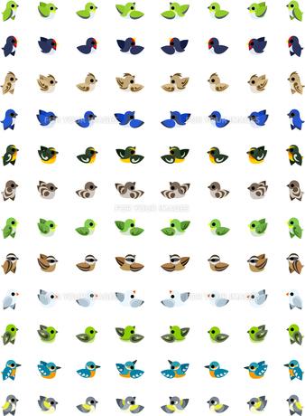 96個の小鳥のアイコンの素材 [FYI00228098]