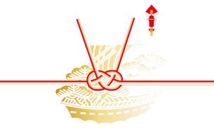 水引と熨斗 あわじ結び 結び切り 宝船の写真素材 [FYI00228192]