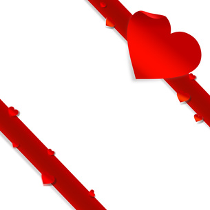 StValentine バレンタインデー リボンの写真素材 [FYI00228211]