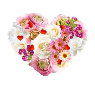 ハートの形の花 の写真素材 [FYI00228228]