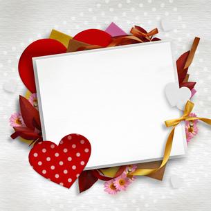 バレンタインデコレーションカードの写真素材 [FYI00228282]