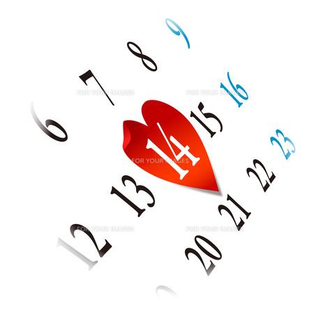 StValentine バレンタインデー カレンダーの素材 [FYI00228290]