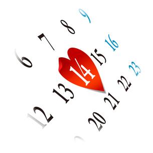 StValentine バレンタインデー カレンダーの写真素材 [FYI00228290]