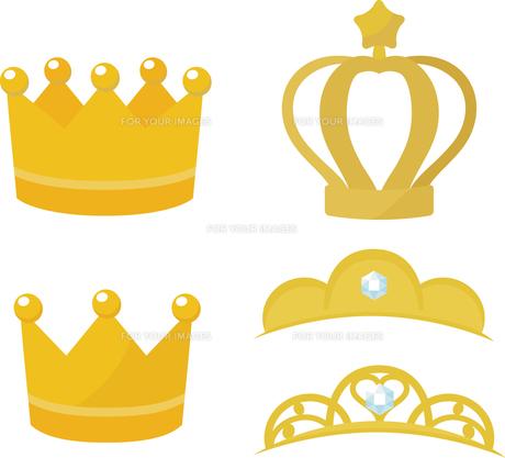 シンプルな王冠とティアラの写真素材 [FYI00228359]