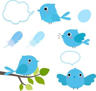 青い鳥たちの写真素材 [FYI00228364]